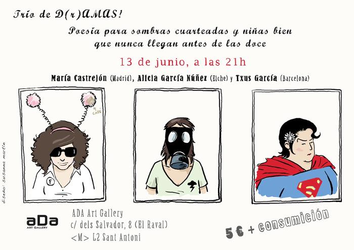 Junio 2012 Barcelona, cartel de la historietista Susanna Martín