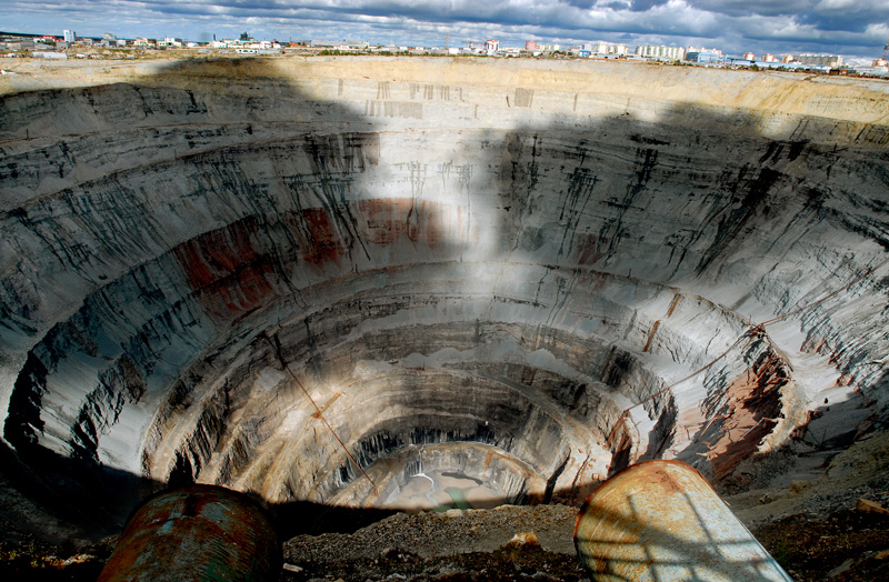 La mina de Mir en Mirny. Siberia