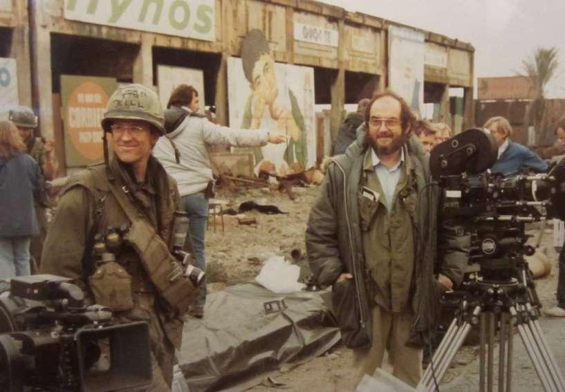 Stanley Kubrick durante el rodaje de 'Full metal jacket'