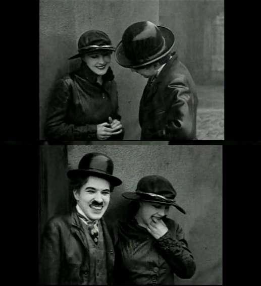 Charles Chaplin y Edna Purviance, en 'El emigrante'