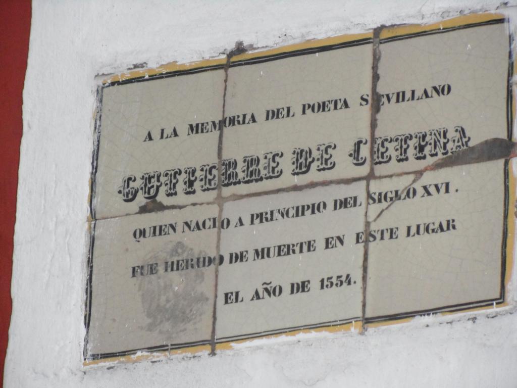 Recuerdo de la muerte de Cetina en Puebla (México)