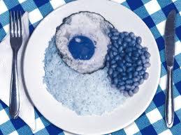 comida azul