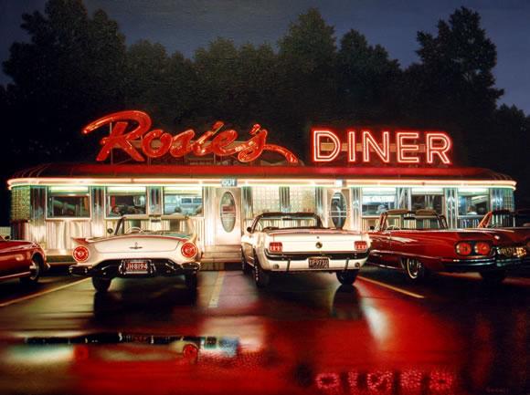 Robert-Gniewek. Rosie's Dinner. 2011. 76 x 102 cm. Óleo sobre lienzo