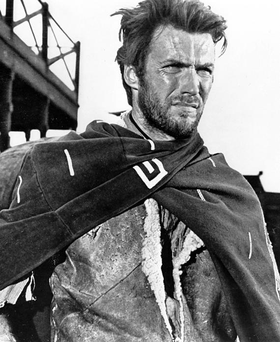 """Clint Eastwood en una fotografía publicitaria de """"Por un puñado de dólares"""""""