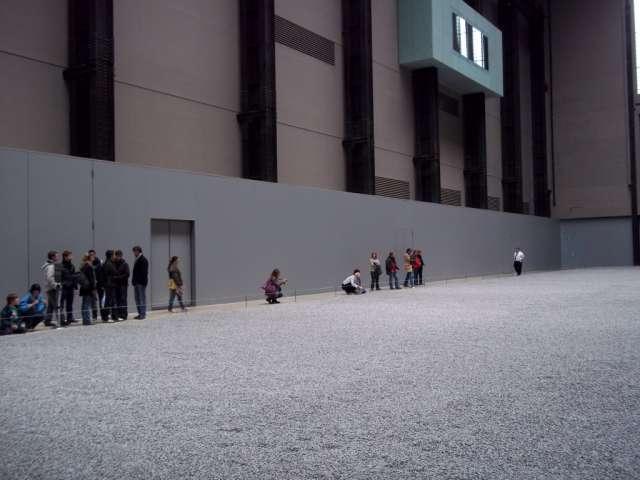 Fotografía: instalación Ai Wei Wei. Tate Modern (fotografía de la autora)