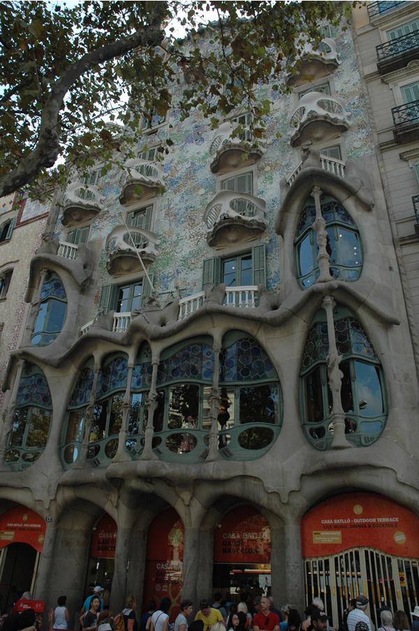 Casa Batlló de Antoni Gaudí en Barcelona