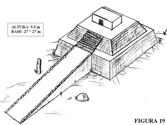 Figura 19. Reconstrucción del templo hallado en el Monte d´Accoddi (Cerdeña)