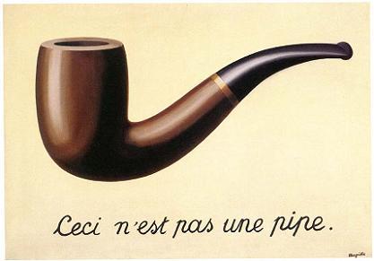 Ceci n'es pas une pipe. René Magritte (1928-1929)