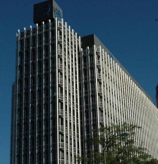 Edificio en el que se encuentra la sede de la SAREB