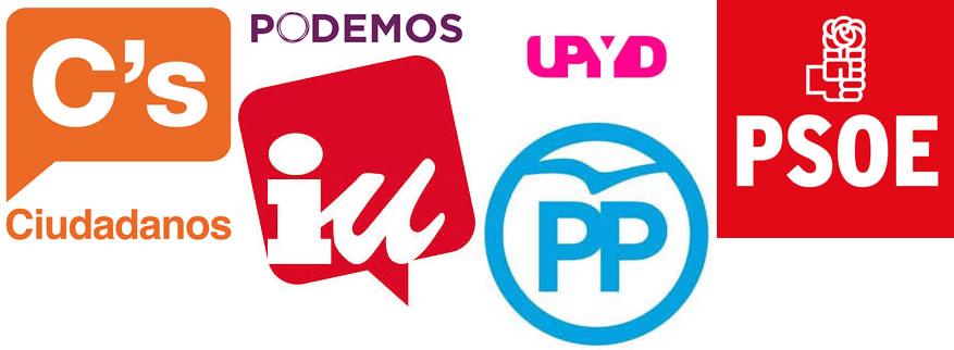 logos de los principales partidos políticos