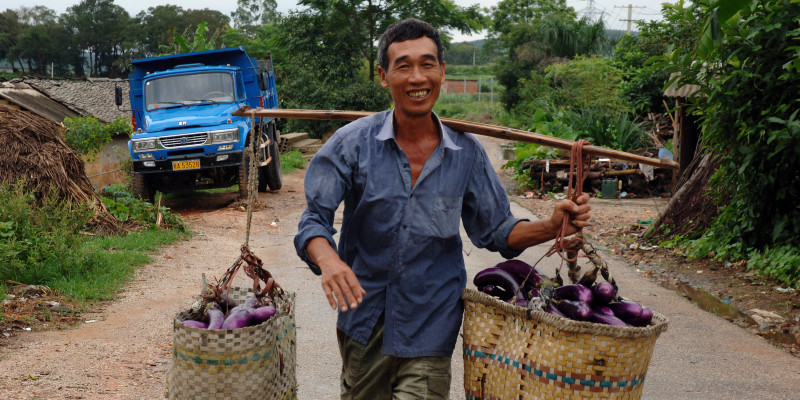 Trabajador rural en el sudeste de China | Vía: AP Photo/Lorrie Graham