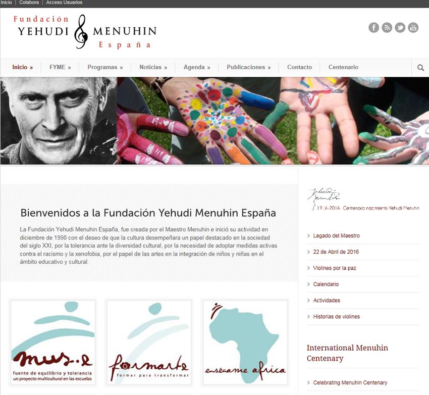 Web Fundación Yehudi Menuhin España 2016