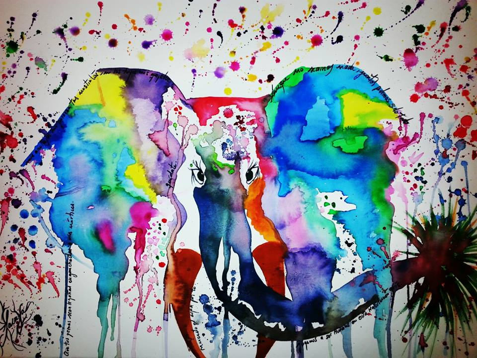 elephant-watercolour