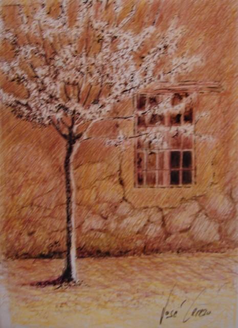 La ventana. Tinta 15 x 21