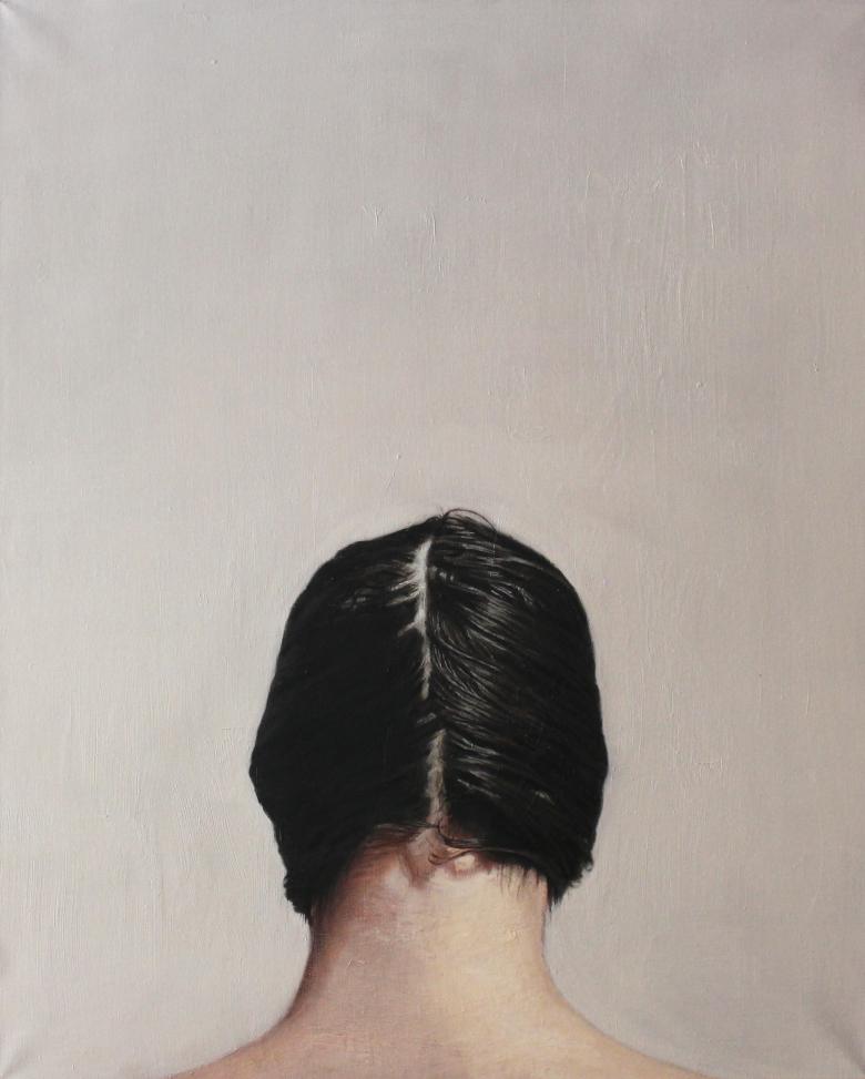 Pescuezo, 2015. Óleo sobre lienzo (100 x 81 cm)