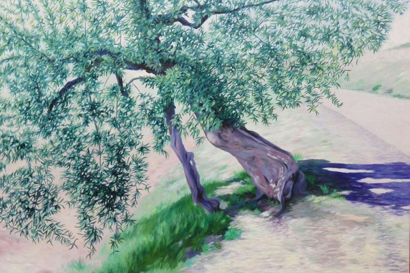 El olivo. Óleo 150 x 100 cm