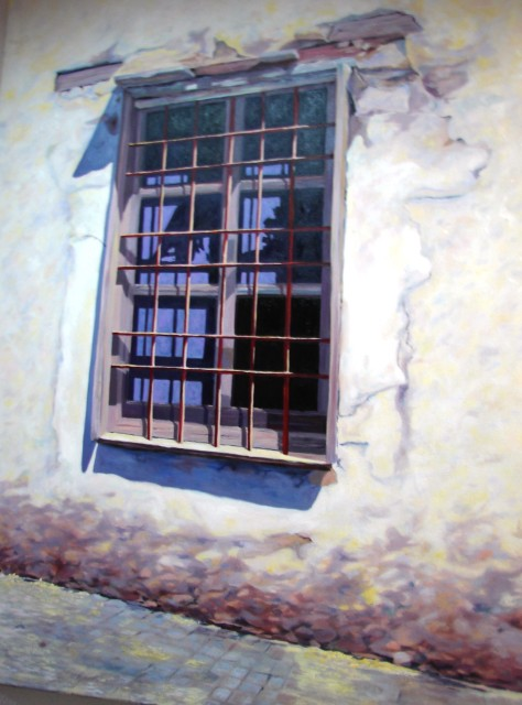 La ventana. Óleo, 59 x 79 cm