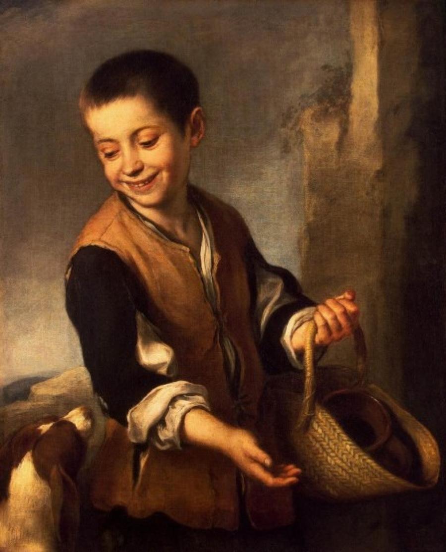 Junge mit einem hund | Vía: Handgemalt24