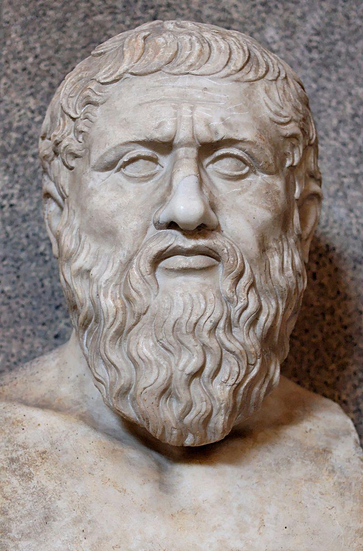 Busto de Platón. Esta pieza data del siglo IV d. C. y es una copia romana de un original griego. Actualmente se encuentra en el Museo Pio-Clementino del Vaticano | Vía: Wikipedia