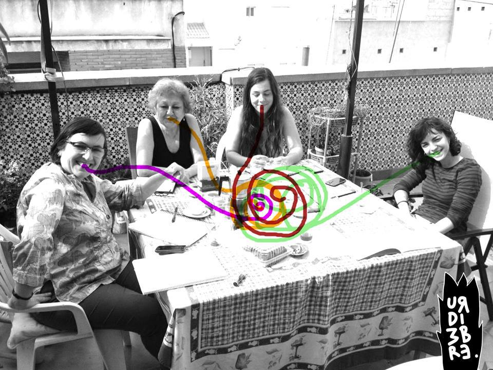 "Proyecto ""La Urdimbre"" (Úrsula Bravo,Conchi Meseguer, Pilar Gómez, María Avenhurt ). Foto: La Urdimbre."