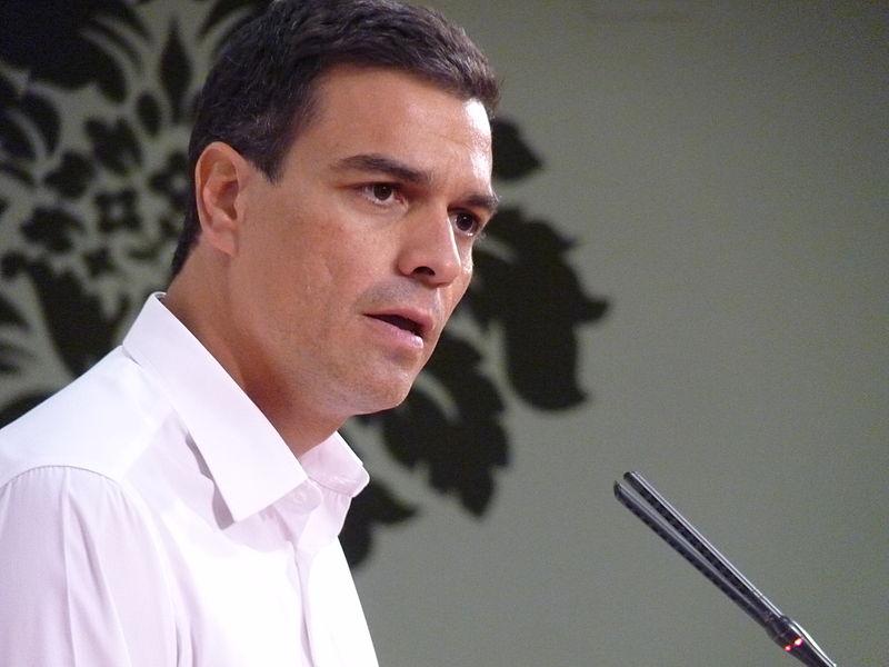 Pedro Sánchez, Secretario Gral. del PSOE. Wikimedia Commons.