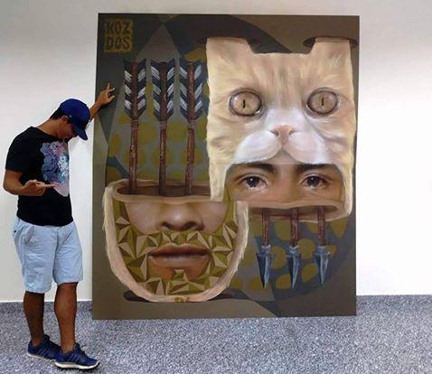 Óleo sobre lienzo para Murcia Street Art Project