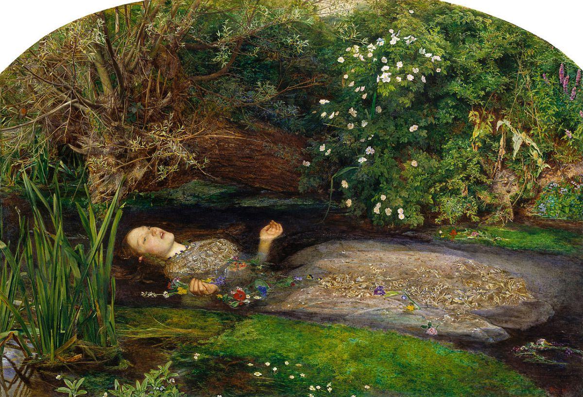 Everet Millais, John (1851). Ofelia | Vía: Tate Gallery