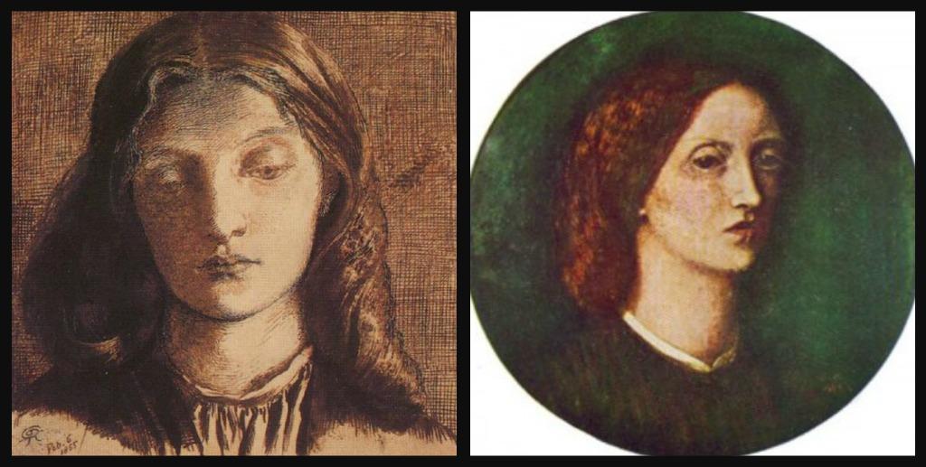 Rossetti, Dante Gabriel. Boceto y Siddal, Elizabeth. Autorretrato | Vía: Henry Habor