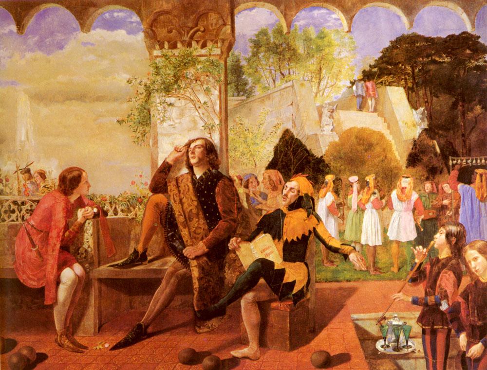 Derevell, Walter (1850). Noche de Reyes | Vía: Rossetti Archive