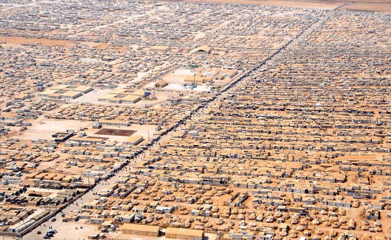 Campamento de refugiados de Zaatari en Jordania (Wikimedia Commons)