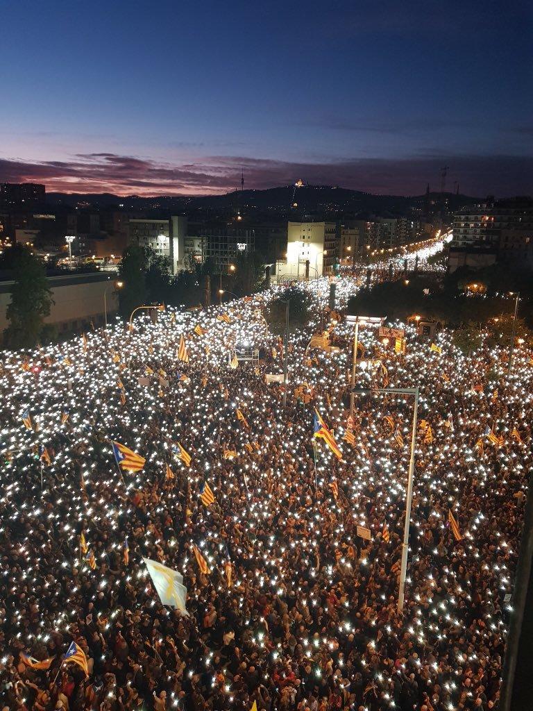 Cataluña, España, independencia, Manifestación