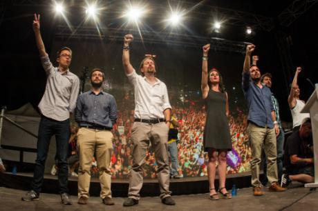 Podemos, Unidos Podemos, Pablo Iglesias, Iñigo Errejón, Alberto Garzón, Irene Montero,