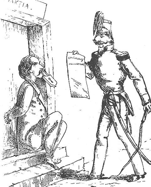 """""""Libertatea presei"""". Vía Wikimedia Commons."""