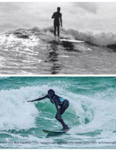 Nick Gabaldón y Nuala Costa en el mar